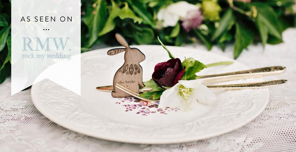 Rock My Wedding Rabbit Place Setting