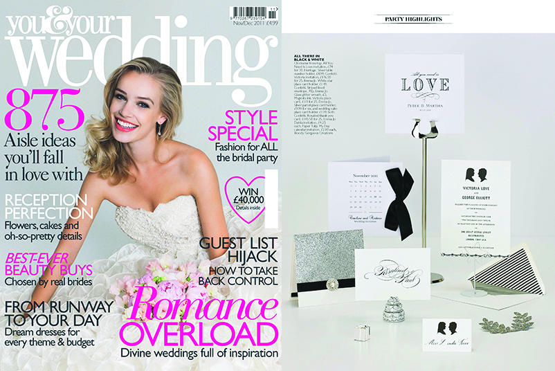 You & Your Wedding NOVDEC 11 Luxury Stationery