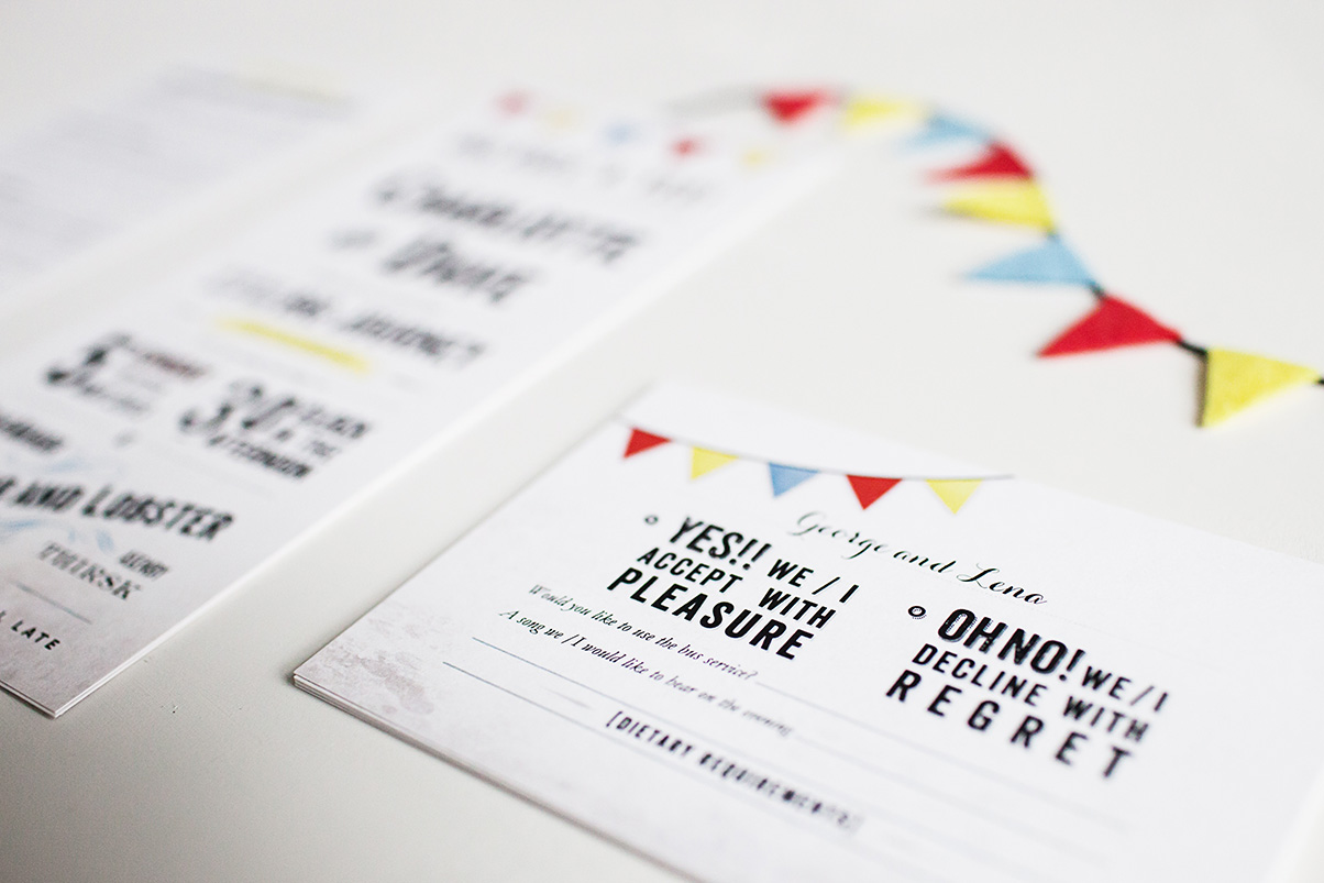 wedding invites and matching rsvp