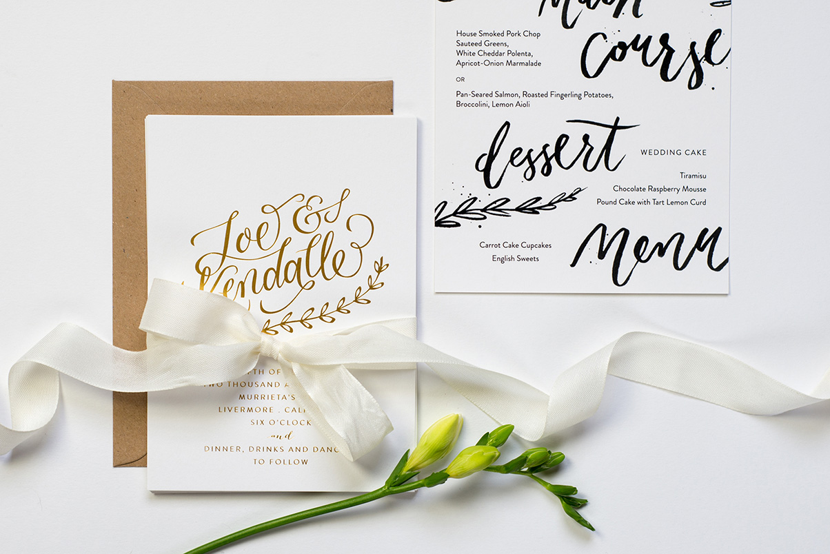 hand lettered stationery