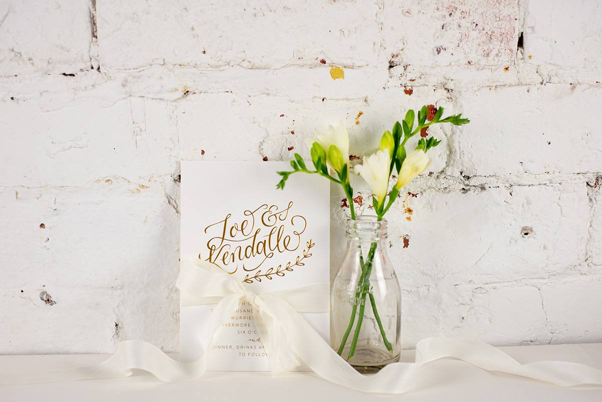 gold wedding stationery uk