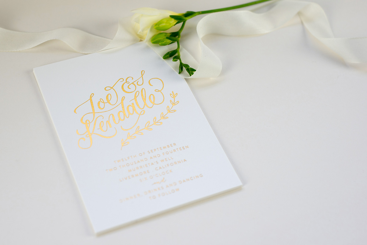 gold wedding invitations uk