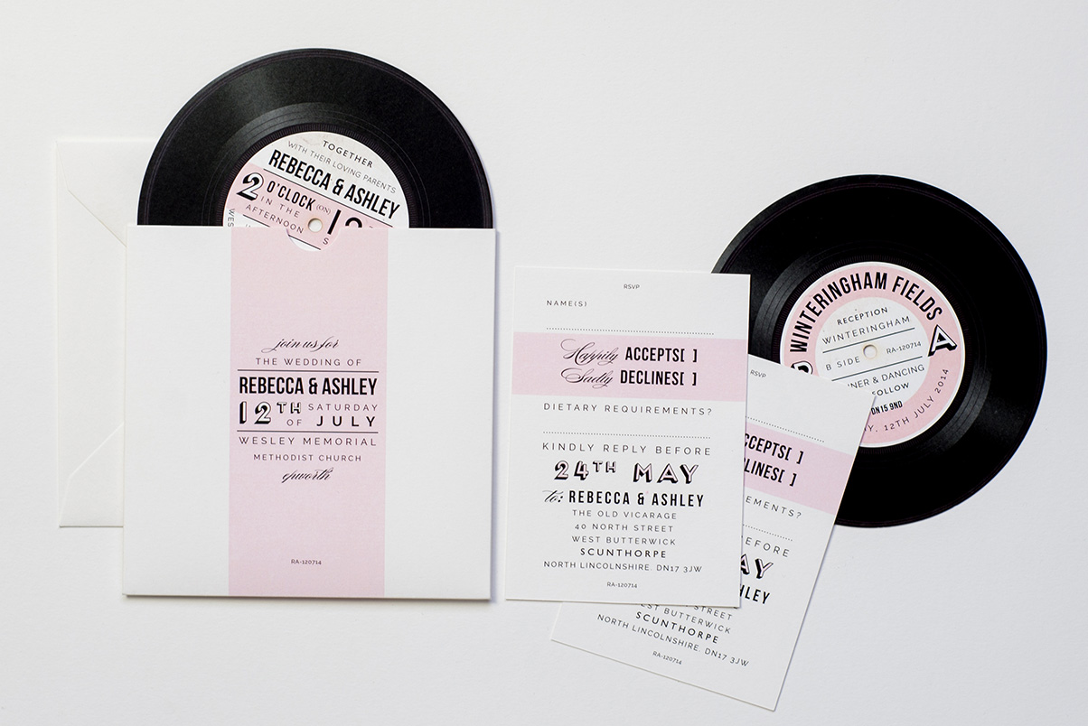music record invitations