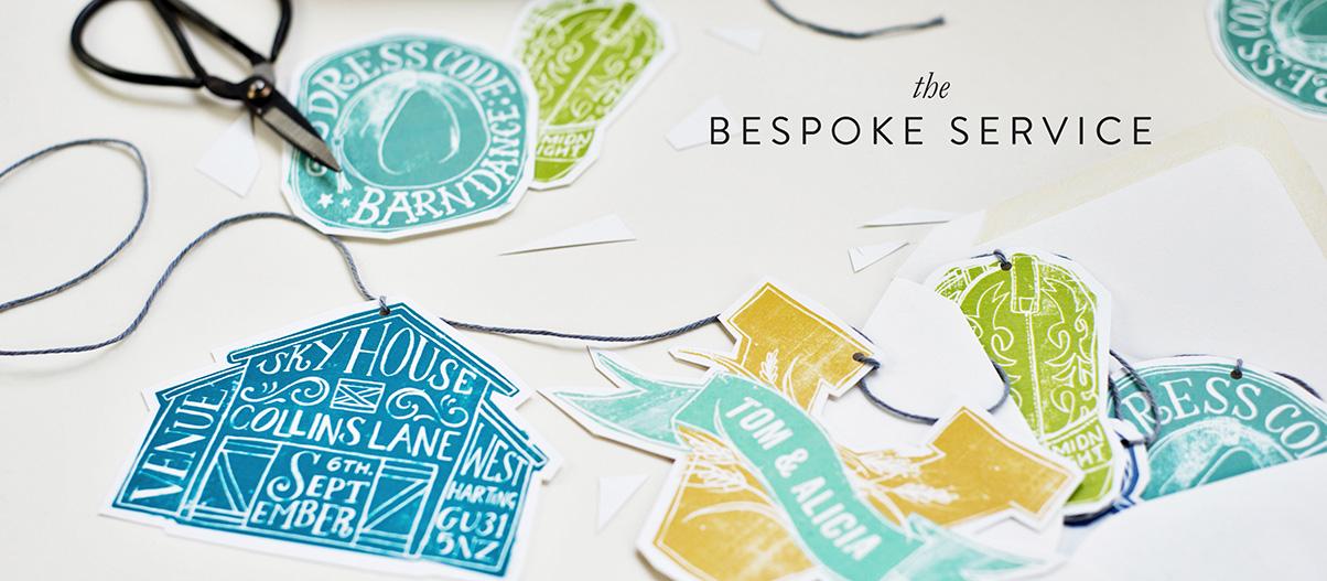 Bespoke Personalised wedding invitations