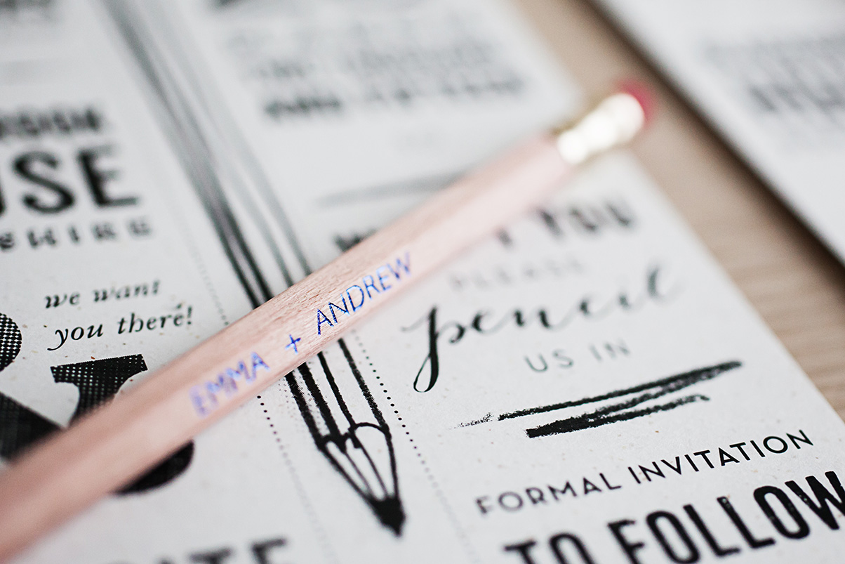 Personalised pencil printing