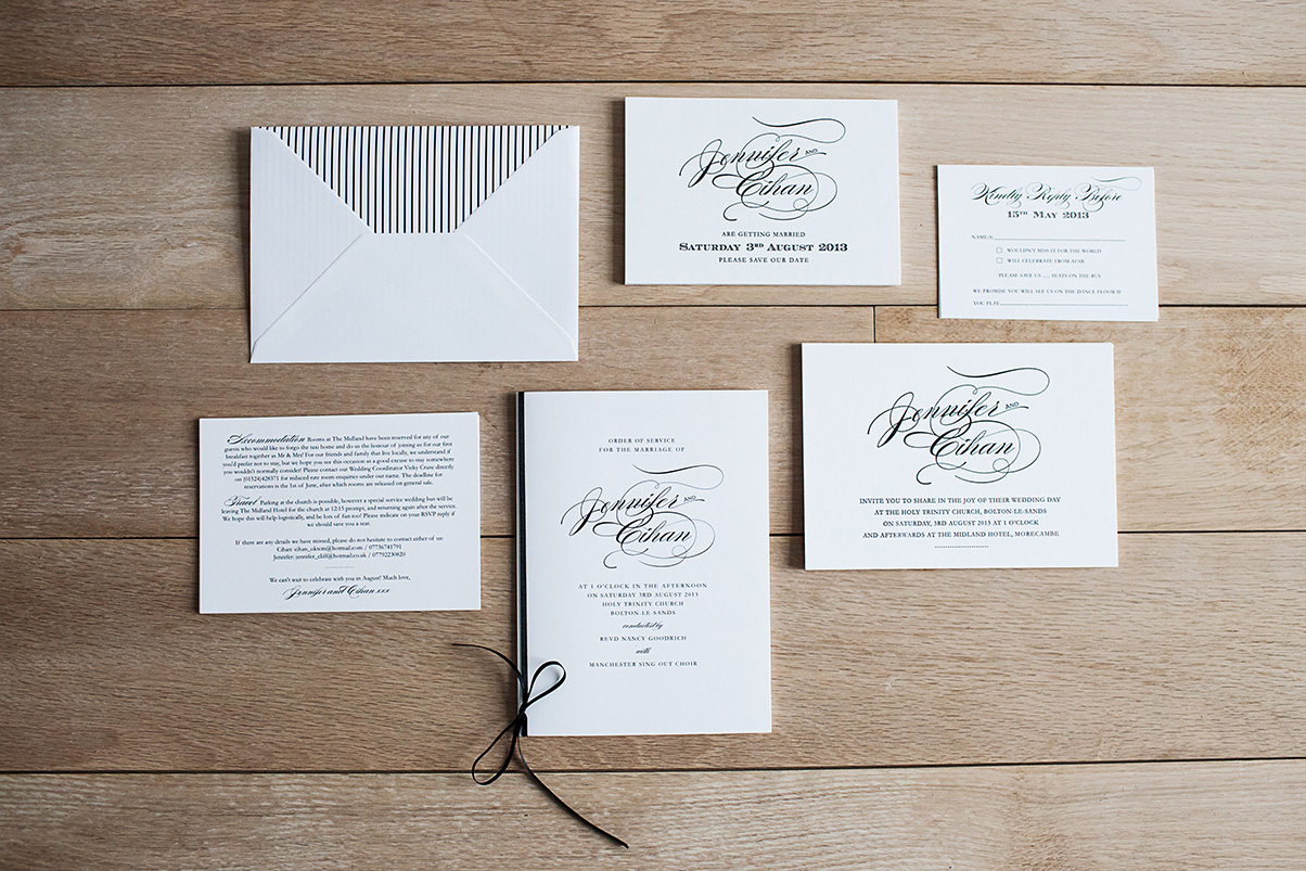 Letterpress Wedding Stationery UK
