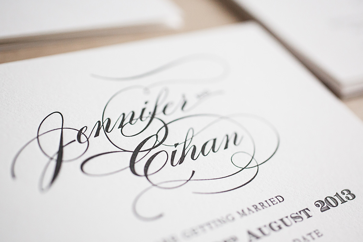 Affordable letterpress wedding invitations UK