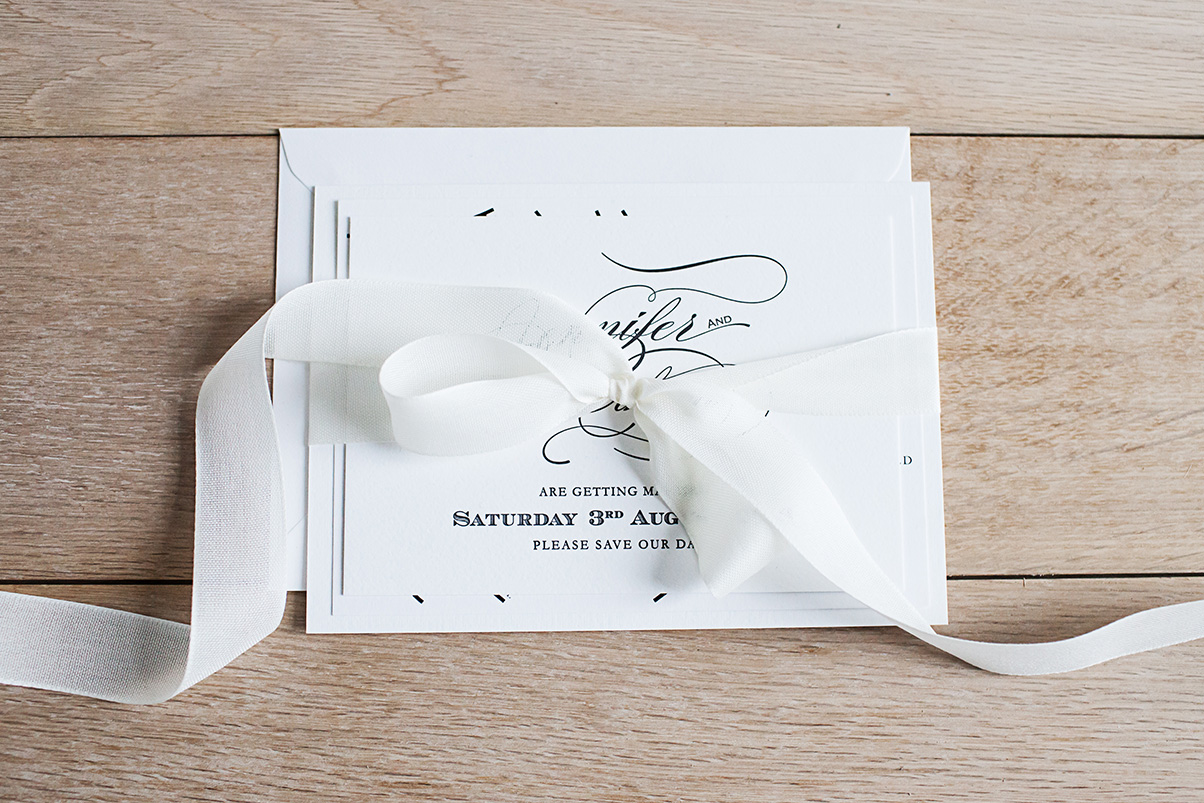 Luxury letterpress wedding invitations UK