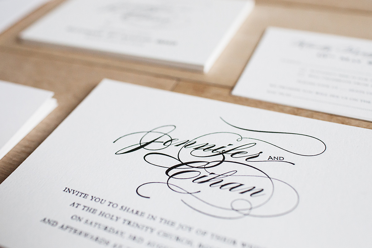 Cheap letterpress wedding invitations UK