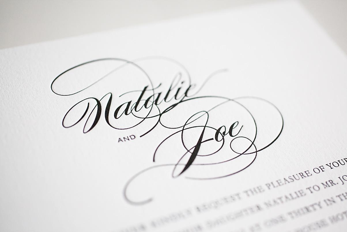 Beautiful letterpress wedding stationary UK