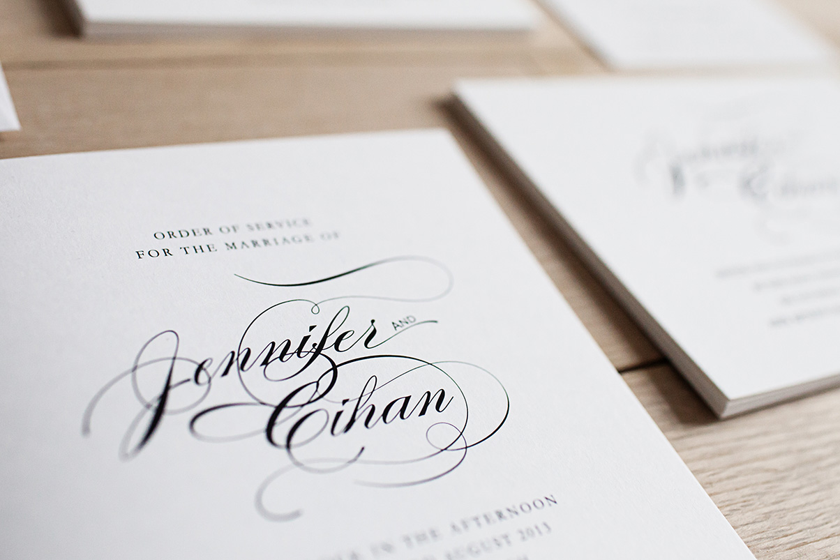 Letterpress wedding invites stationary