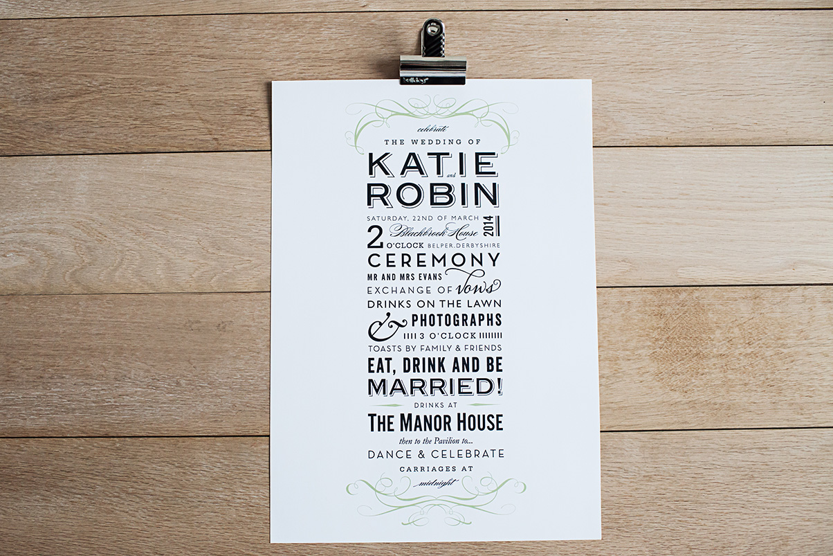 Bespoke, personalised wedding invitations and stationery