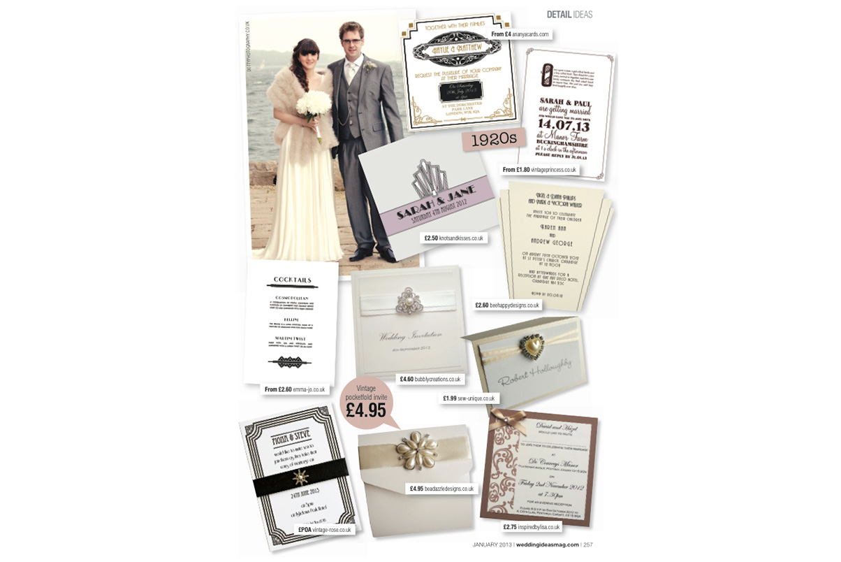 Art Deco Wedding Stationery Stationary