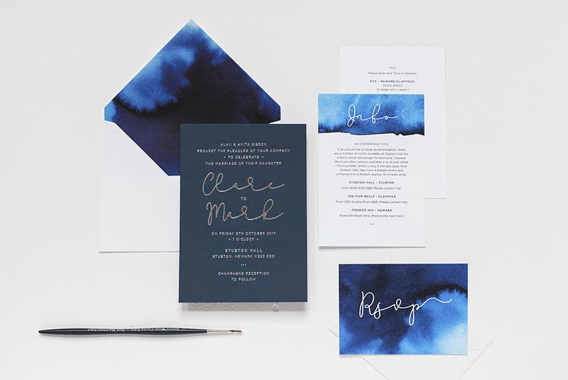 silver foil printed invites