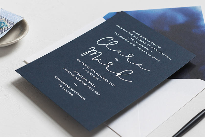 bespoke wedding invite design