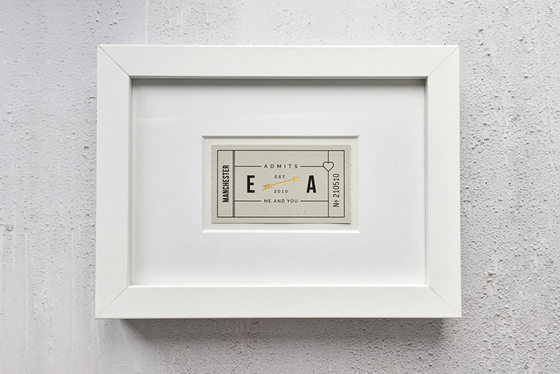 Gold Foil Wedding Anniversary Print